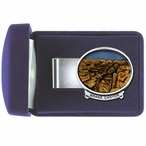 Grand Canyon Steel Money Clip with Pewter Accent