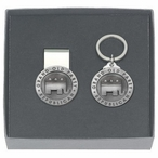Grand Old Party Republican Money Clip & Key Chain Pewter Gift Set