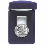Grizzly Bear Steel Money Clip with Pewter Accent