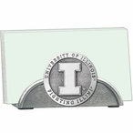 Illinois Fighting Illini Metal Business Card Holder with Pewter Accent