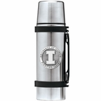 Illinois Fighting Illini Pewter Accent Stainless Steel Thermos