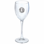 Illinois Fighting Illini Pewter Accent Wine Glass Goblets, Set of 2