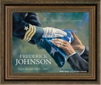 In Loving Memory… Navy Personalized Memorial Framed Canvas Art Print