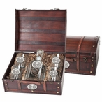 Iowa State Cyclones Pewter Accent Capitol Decanter Chest Set