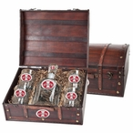 Iowa State Cyclones Red Pewter Accent Capitol Decanter Chest Set