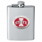 Iowa State Cyclones Red Stainless Steel Flask with Pewter Accent