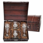 Iowa State University Cyclones Pewter Accent Beer Chest Box Set
