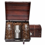 Iowa State University Cyclones Pewter Accent Wine Chest Set