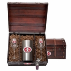 Iowa State University Cyclones Red Pewter Accent Wine Chest Set