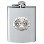 Iowa State University Cyclones Stainless Steel Flask w/ Pewter Accent