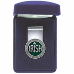 Irish Green Steel Money Clip with Pewter Accent