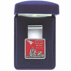 Iwo Jima Red Steel Money Clip with Pewter Accent