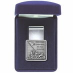 Iwo Jima Steel Money Clip with Pewter Accent