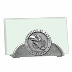 Kansas Jayhawks Metal Business Card Holder with Pewter Accent