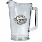 Kansas State University Wildcats Glass Pitcher with Pewter Accent