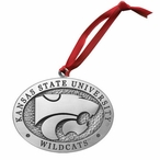 Kansas State University Wildcats Pewter Accent Ornaments, Set of 2