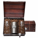 Kansas State University Wildcats Pewter Accent Wine Chest Set