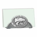 Kansas State Wildcats Metal Business Card Holder with Pewter Accent