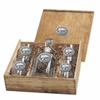 Kansas State Wildcats Pewter Accent Capitol Decanter Box Set