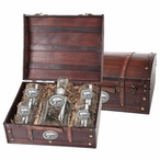 Kansas State Wildcats Pewter Accent Capitol Decanter Chest Set