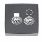 Kansas State Wildcats Pewter Accent Money Clip & Key Chain Gift Set