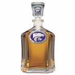 Kansas State Wildcats Purple Capitol Glass Decanter w/ Pewter Accents