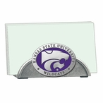 Kansas State Wildcats Purple Metal Business Card Holder with Pewter