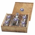 Kansas State Wildcats Purple Pewter Accent Capitol Decanter Box Set