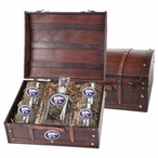 Kansas State Wildcats Purple Pewter Accent Capitol Decanter Chest Set