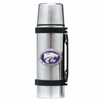 Kansas State Wildcats Purple Pewter Accent Stainless Steel Thermos