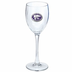 Kansas State Wildcats Purple Pewter Wine Glass Goblets, Set of 2