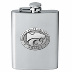 Kansas State Wildcats Stainless Steel Flask with Pewter Accent