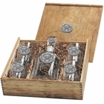 Kennesaw State Owls Pewter Accent Capitol Decanter Box Set