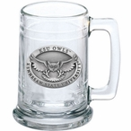 Kennesaw State Owls Pewter Accent Glass Beer Mug