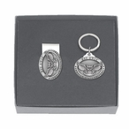 Kennesaw State Owls Pewter Accent Money Clip & Key Chain Gift Set