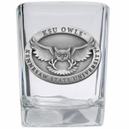 Kennesaw State Owls Pewter Accent Shot Glasses, Set of 4
