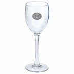 Kennesaw State Owls Pewter Accent Wine Glass Goblets, Set of 2