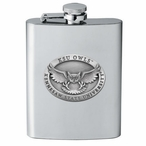 Kennesaw State Owls Stainless Steel Flask with Pewter Accent