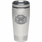 Kennesaw State Owls Stainless Steel Travel Mug with Pewter Accent