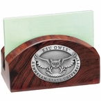 Kennesaw State Owls Wood Business Card Holder with Pewter Accent