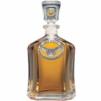 Kennesaw State Owls Yellow Capitol Glass Decanter with Pewter Accents