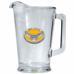 Kennesaw State Owls Yellow Glass Pitcher with Pewter Accent