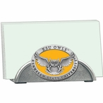 Kennesaw State Owls Yellow Metal Business Card Holder w/ Pewter Accent