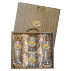 Kennesaw State Owls Yellow Pewter Accent Beer Box Set