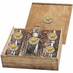 Kennesaw State Owls Yellow Pewter Accent Capitol Decanter Box Set