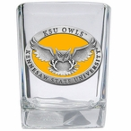 Kennesaw State Owls Yellow Pewter Accent Shot Glasses, Set of 4