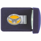 Kennesaw State Owls Yellow Pewter Accent Steel Money Clip