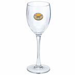 Kennesaw State Owls Yellow Pewter Accent Wine Glass Goblets, Set of 2