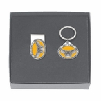 Kennesaw State Owls Yellow Pewter Money Clip & Key Chain Gift Set