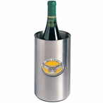 Kennesaw State Owls Yellow Pewter Stainless Steel Wine Bottle Chiller